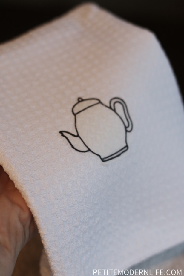 DIY Iron On Tea Towels -