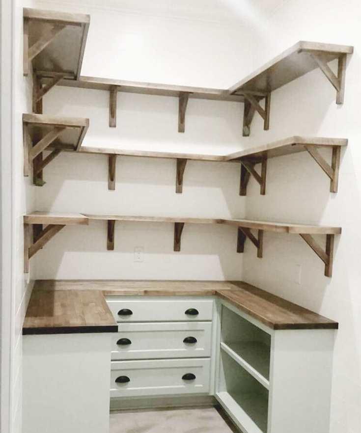 modern farmhouse kitchen pantry